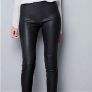 Zara vegan leather pants